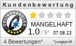 Kundenbewertungen für ORANGE Werbetechnik - messedisplays24.de